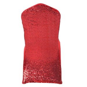 Sequin Red Stretch chair covers, Yellow Spandex chair cover,L